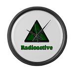 Green Radioactive Symbol Large Wall Clock