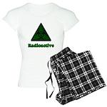 Green Radioactive Symbol Women's Light Pajamas