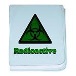 Green Radioactive Symbol baby blanket