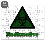 Green Radioactive Symbol Puzzle