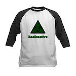 Green Radioactive Symbol Kids Baseball Jersey
