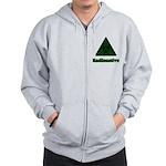 Green Radioactive Symbol Zip Hoodie