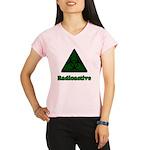 Green Radioactive Symbol Performance Dry T-Shirt