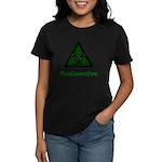 Green Radioactive Symbol Women's Dark T-Shirt