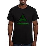 Green Radioactive Symbol Men's Fitted T-Shirt (dar