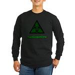 Green Radioactive Symbol Long Sleeve Dark T-Shirt