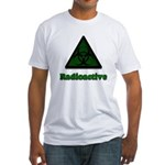Green Radioactive Symbol Fitted T-Shirt