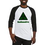 Green Radioactive Symbol Baseball Jersey