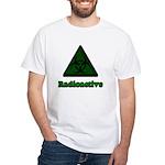Green Radioactive Symbol White T-Shirt
