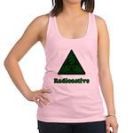 Green Radioactive Symbol Racerback Tank Top