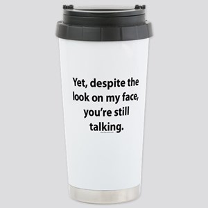 myface Stainless Steel Travel Mug