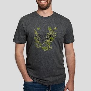 2-darwin_vi ne_animals_whit Mens Tri-blend T-Shirt