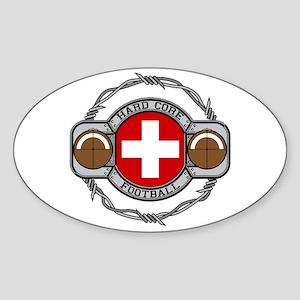 Switzerland Football Oval Sticker