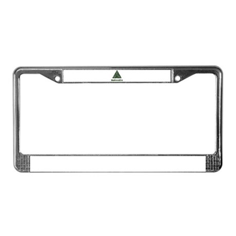 Distressed Green Radioactive Symbol License Plate