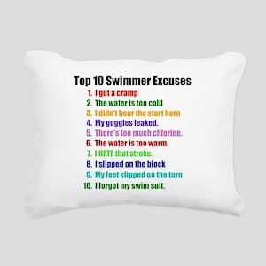 Swim Excuses Rectangular Canvas Pillow