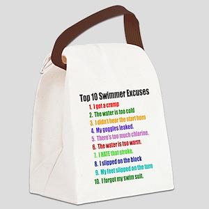 Swim Excuses Canvas Lunch Bag