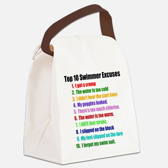 Swim Excuses Canvas Lunch Bag