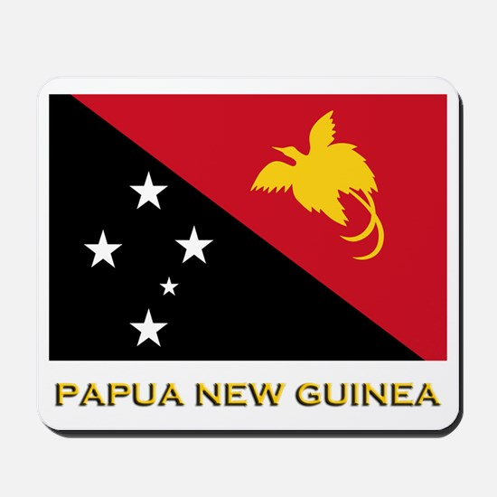Papua New Guinea Flag Gear Mousepad