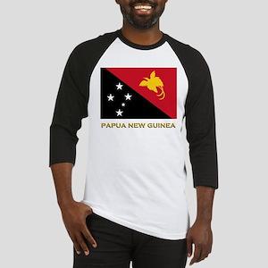 Papua New Guinea Flag Gear Baseball Jersey