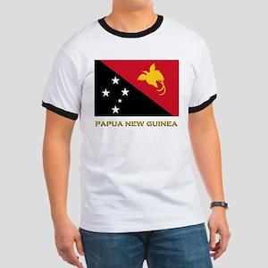Papua New Guinea Flag Gear Ringer T