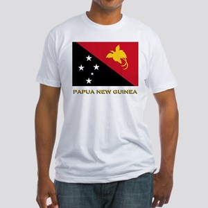 Papua New Guinea Flag Gear Fitted T-Shirt