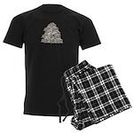 1000 Paper Cranes Men's Dark Pajamas