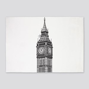 London Big Ben 5'x7'Area Rug