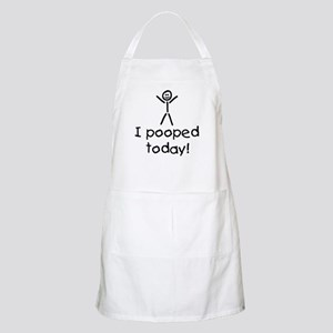 I Pooped Today Silly Apron