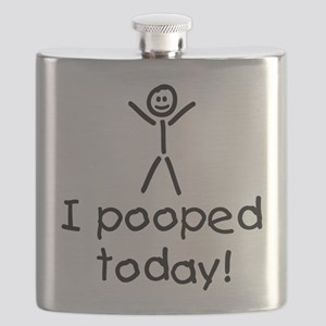 I Pooped Today Silly Flask