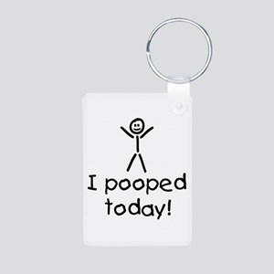 I Pooped Today Silly Aluminum Photo Keychain