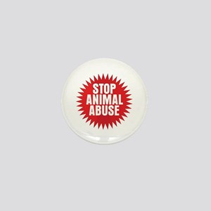 Stop Animal Abuse Mini Button