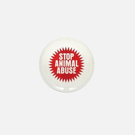 Stop Animal Abuse Mini Button