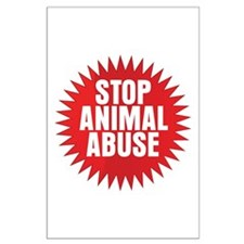 Stop Animal Abuse Large Poster