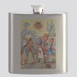 Alice Meets The Queen of Hearts Flask