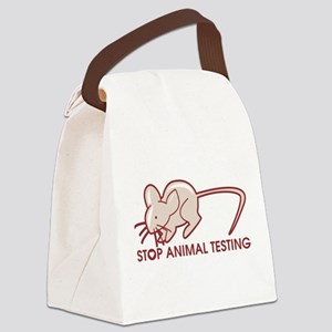 Stop Animal Testing Canvas Lunch Bag