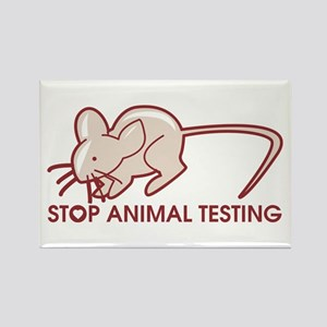 Stop Animal Testing Rectangle Magnet