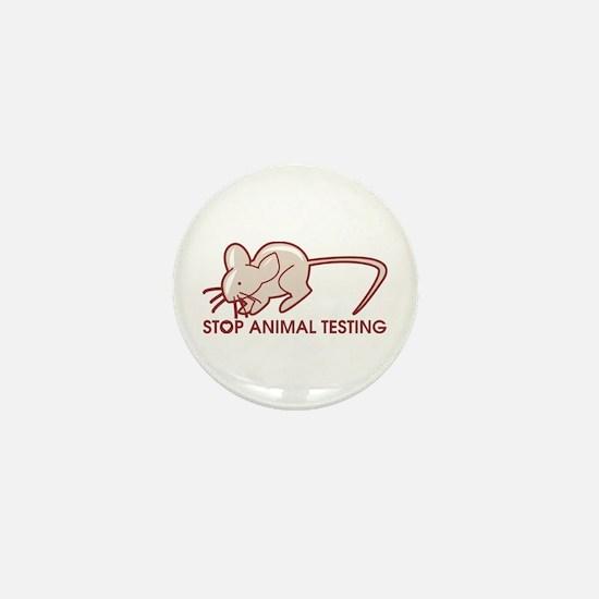 Stop Animal Testing Mini Button