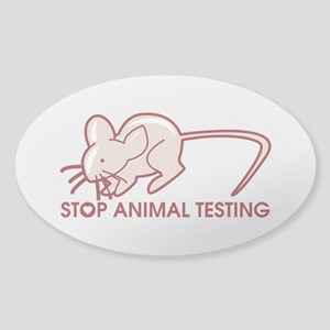 Stop Animal Testing Sticker (Oval)