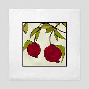 pomegranates Queen Duvet