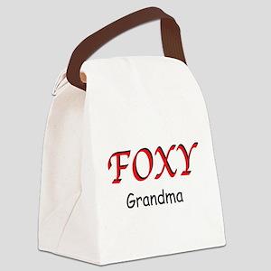 Foxy Grandma Canvas Lunch Bag