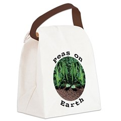 Peas On Earth Canvas Lunch Bag
