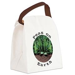 Peas On Earth Canvas Lunch Bag