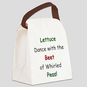 Peas Canvas Lunch Bag