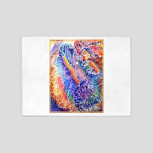 Show girl! Colorful art! 5'x7'Area Rug