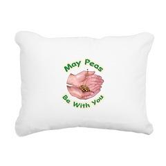 peasbewithyou2 Rectangular Canvas Pillow