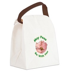 peasbewithyou2.png Canvas Lunch Bag