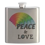 Rainbow Peace Love Flask