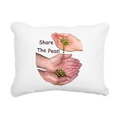 SharePeasN Rectangular Canvas Pillow