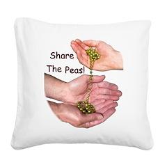 SharePeasN Square Canvas Pillow