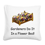 FlowerBed Square Canvas Pillow